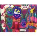 愛馬仕 Chale 絲巾 (粉紅/綠/紅)