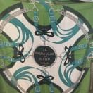 愛馬仕 Chale 絲巾 (深綠/灰/綠)