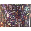愛馬仕 Chale 絲巾 (紫/紅/灰)