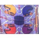 愛馬仕 Chale 絲巾 (紫/藍/橙)