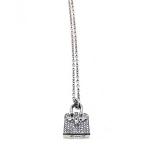 愛馬仕 Amulettes Birkin 白金鑽石頸鏈 H