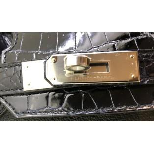 愛馬仕 Birkin 30 Touch Taurillon Novilo/Niloticus 銀扣(黑色/藍色) K