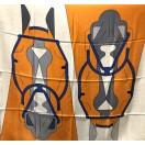 愛馬仕 Chale 100 Tete A Tete Equestre (黃/橙/藍)