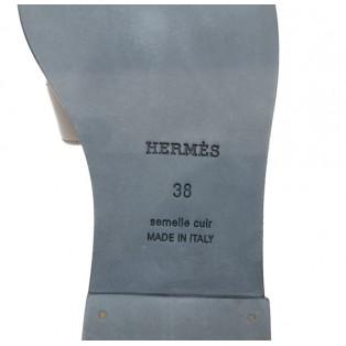 愛馬仕Femme Oran Nappa Metallise Size 38(08 復古金色)