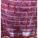 愛馬仕 Chale Panoplie Equestre (紫/紅/白)