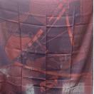 愛馬仕 Chale 100 Tisse Reversible Harnais (紅/藍)