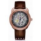 愛馬仕Arceau玫瑰金 鏤空自動手錶